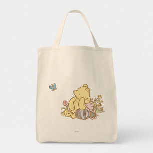 4d5e7be4a463 Classic Winnie the Pooh and Piglet 1 Tote Bag