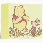 Classic Winnie the Pooh and Piglet 1 Vinyl Binders