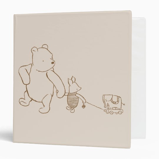 Classic Winnie The Pooh And Piglet 2 3 Ring Binder