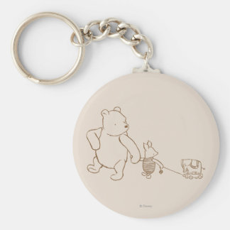 Classic Winnie the Pooh and Piglet 2 Keychain