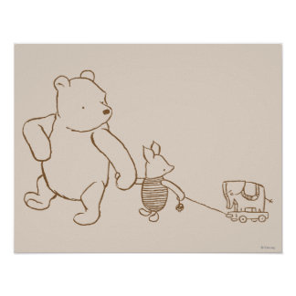 Classic Winnie the Pooh and Piglet 2 Posters
