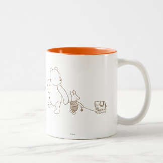 Classic Winnie the Pooh and Piglet 2 Two-Tone Coffee Mug