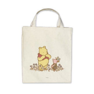 Classic Winnie the Pooh and Piglet 3 Tote Bags