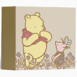 Classic Winnie the Pooh and Piglet 3 Binders