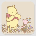 Classic Winnie the Pooh and Piglet 3 Square Sticker