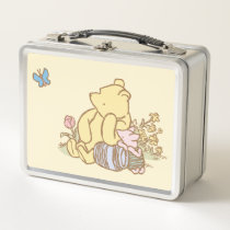 Classic Winnie the Pooh and Piglet Metal Lunch Box