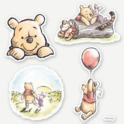 Classic Winnie the Pooh Illustrated Sticker