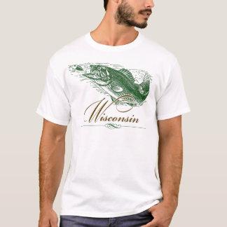 Classic Wisconsin Fish Fishing Traveler T-Shirt