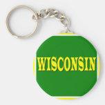 Classic Wisconsin Keychain
