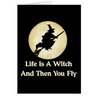 Classic Witch Saying Card