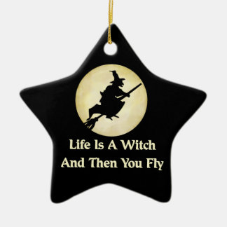 Classic Witch Saying Ornaments