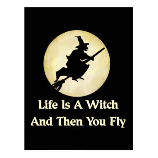 Classic Witch Saying Postcard