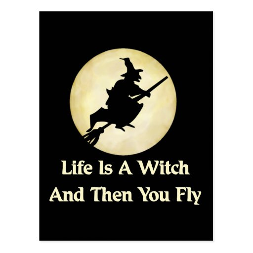 Classic Witch Saying Post Cards