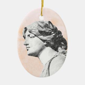 Classic Woman Ceramic Ornament