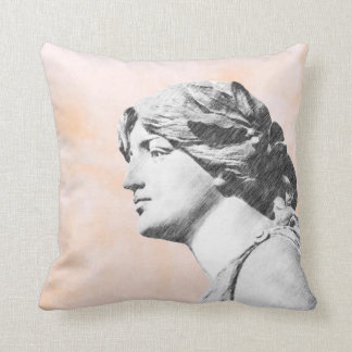 Classic Woman Throw Pillow