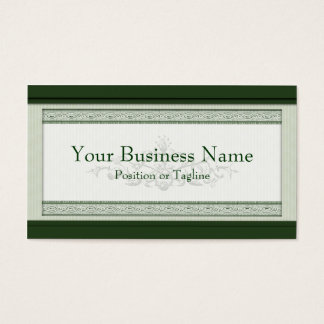 Classic Woodcut Green Business Card
