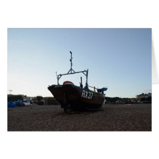 Classic Wooden Fishing Boat Card
