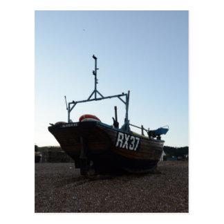 Classic Wooden Fishing Boat Postcard