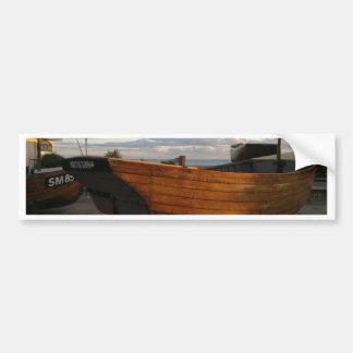 Classic Wooden Fishing Boats Bumper Sticker