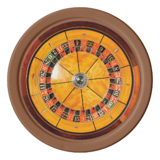 Classic Wooden Roulette Wheel Poker Chips
