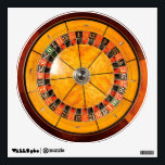 """Classic Wooden Roulette Wheel Wall Decal<br><div class=""""desc"""">Classic Wooden Roulette Wheel</div>"""