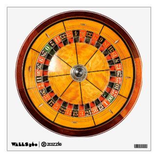 Classic Wooden Roulette Wheel Wall Decal