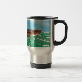 Classic Wooden Speedboat Travel Mug