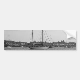 Classic Wooden Yacht Car Bumper Sticker