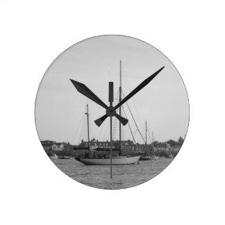 Classic Wooden Yacht Wallclock