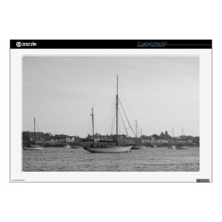 "Classic Wooden Yacht 17"" Laptop Decals"