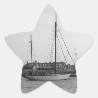 Classic Wooden Yacht Star Sticker