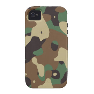 Classic Woodland Pattern Camo iPhone 4/4S Cases