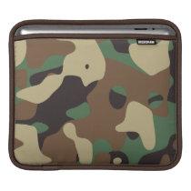 Classic Woodland Pattern Camo iPad Sleeve