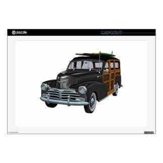 Classic Woody in Black Laptop Skins