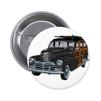Classic Woody in Black Pinback Button