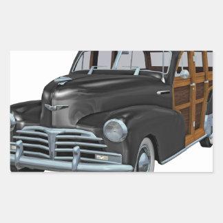Classic Woody in Black Rectangular Sticker