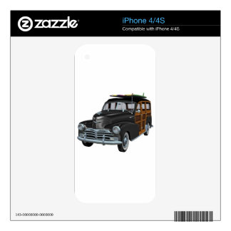 Classic Woody in Black Skins For iPhone 4S