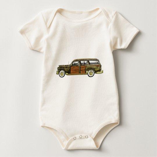 Classic Woody Station wagon Baby Bodysuit