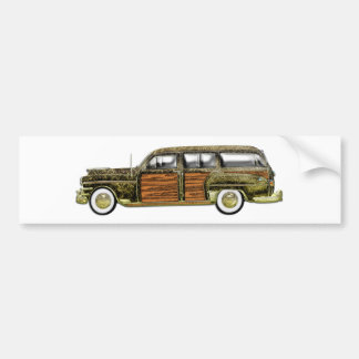 Classic Woody Station wagon Bumper Sticker