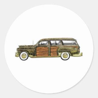 Classic Woody Station wagon Classic Round Sticker