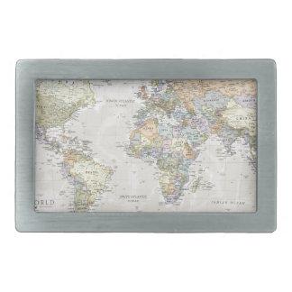 Classic World Map Belt Buckle