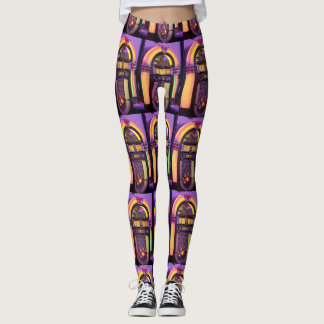 Classic Wurlitzer Jukebox Leggings