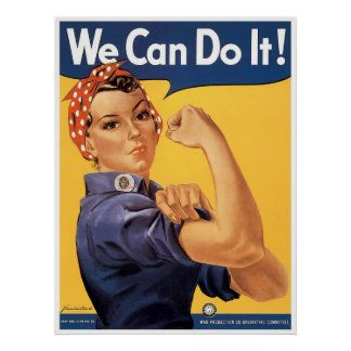 Classic WWII We Can Do It Poster
