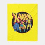 Classic X-Men   Beast, Jubilee, & Wolverine Icon Fleece Blanket