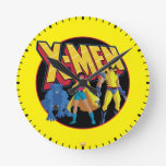 Classic X-Men   Beast, Jubilee, & Wolverine Icon Round Clock