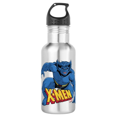 Classic X-Men | Beast Three-Point Landing Stainless Steel Water Bottle