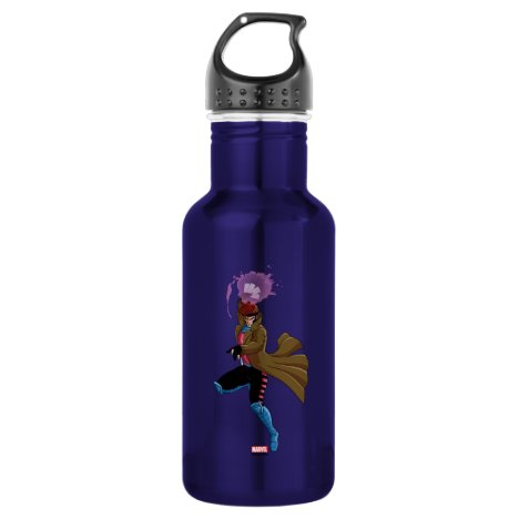 Classic X-Men | Gambit Throwing Playing Cards Stainless Steel Water Bottle