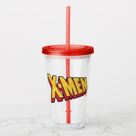Classic X-Men | Red & Gold X-Men Logo Acrylic Tumbler