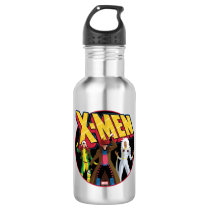 Classic X-Men   Rogue, Gambit, & Storm Icon Stainless Steel Water Bottle