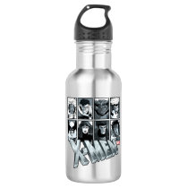 Classic X-Men   Silver Team Roster Stainless Steel Water Bottle